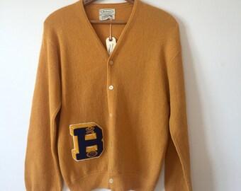 vintage varsity mustard sweater