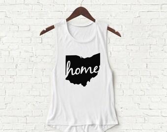Home Ohio State - Womens Muscle Tank - White