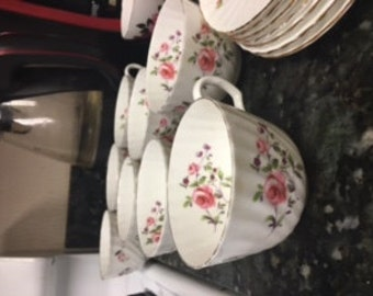 Adderley Fine Bone China England Tea cups with saucers-8
