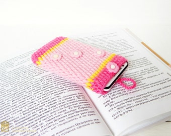 Crochet phone case, Crochet Phone Sleeve, Iphone 6S Case, Iphone 6s Sleeve, Samsung Galaxy S4 Case, Samsung Galaxy S4 Sleeve