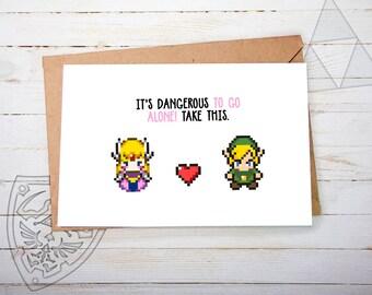 Valentine, Valentines Day Card, Zelda Valentines Card, Valentine Card Her Valentine Card Him, Valentines, Valentine Card Valentines Day Card