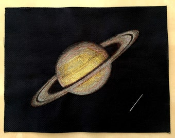 Saturn Cross Stitch Pattern Instant Download PDF