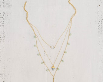 Aventurine Layered Necklace