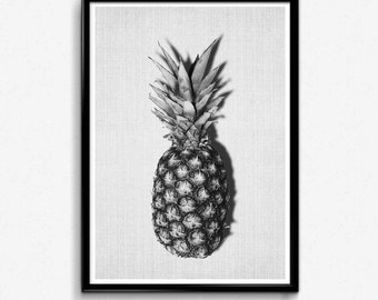 Pineapple Print, Tropical Wall Decal, Pineapple Print Poster, Pineapple Decal, Pineapple Printable, Tropical Prints For A Nursery, Ananas