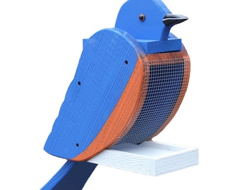 Amish Made Blue Bird Feeder