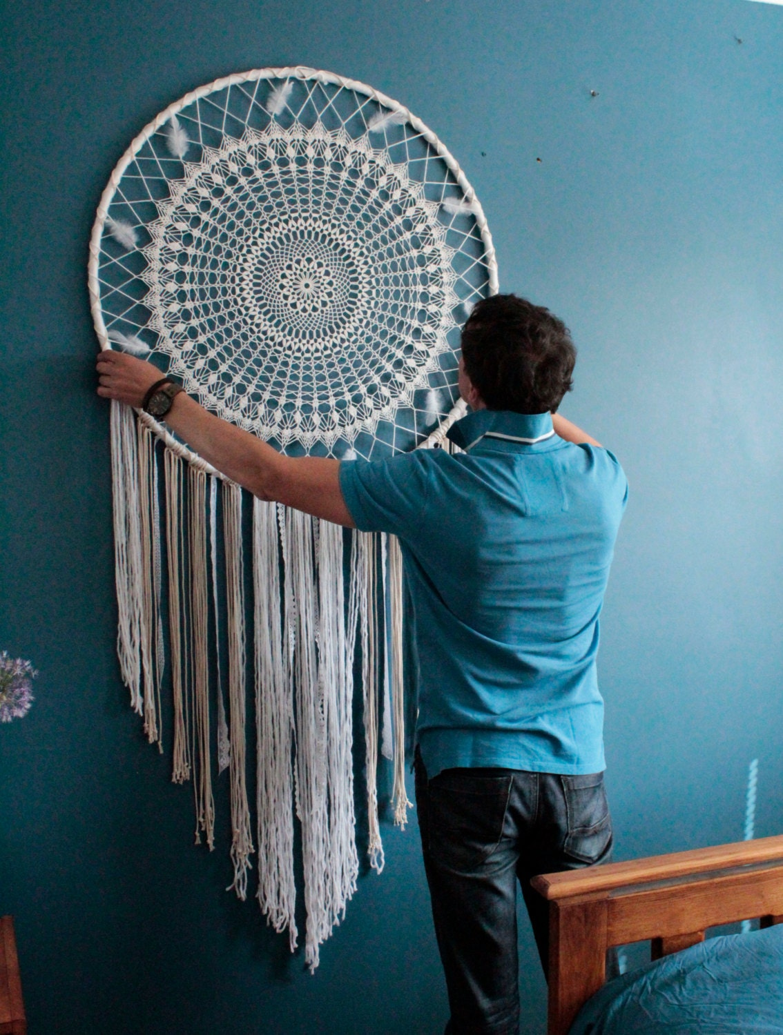 in stock large dreamcatcher wall hanging boho wall wedding