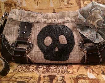 Skull and Flowers Handbag