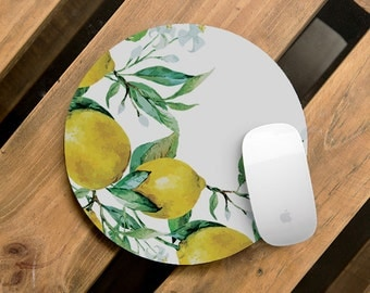 Lemon Mouse Pad Decor Pad Fruit Mouse Pad For Co-Worker Gift Computer MousePad  Pads Gift for Friend Art Decoration Office Gift CMP_069