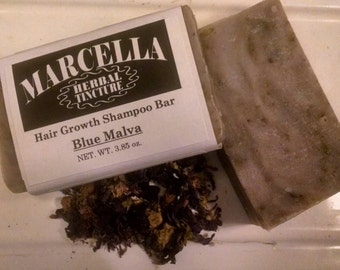 Blue Malva Handcrafted All Natural Moisturizing Shampoo Bar Organic Vegan No Chemicals Brightens Blonde and Grey Hair