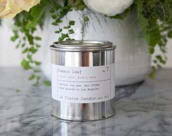No.7 Tomato Leaf / soy candle