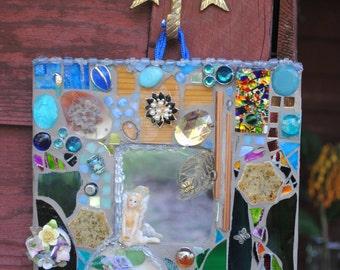 Fairy mosaic mirror