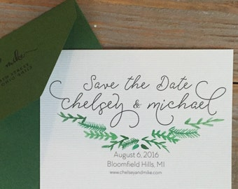 Custom Watercolor Calligraphy - Save the Date