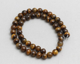 47Pcs Naturaal Tiger Eye Beads, Gemstone Beads, 8.5mm(Approx), Full Strand, sku/MRY14