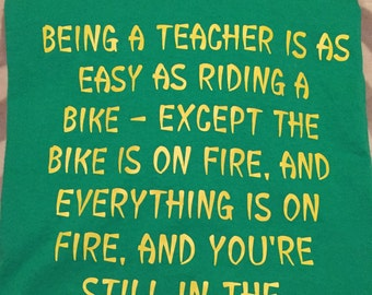 Being a Teacher Is As Easy As Riding a Bike