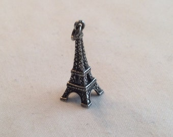 1960's Vintage Sterling Silver Eiffel Tower Charm .925 #641
