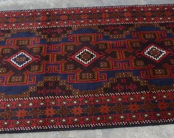 6'1 x 3'5 Feet Beautiful Baluch Rug Vintage Baluch Rug Afghan Handmade Baluch rug Medalion Rug