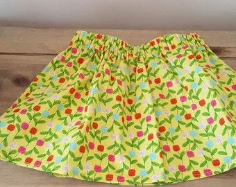 Girl's elasticated waist skirt, cotton.  Size 2 T