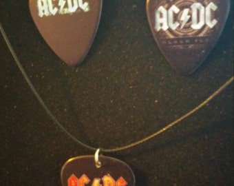 AC DC Jewelry Set: Earrings and Necklace
