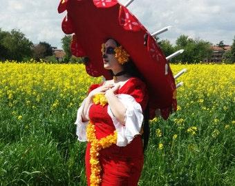 La Muerte complete  cosplay costume from the book of life - La catarina, dias de los muertos