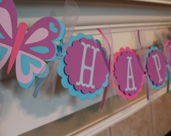 Butterfly Birthday Banner