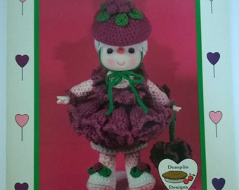 Lollipop Lane Raspberry Fluff Vintage Crochet Doll Pattern