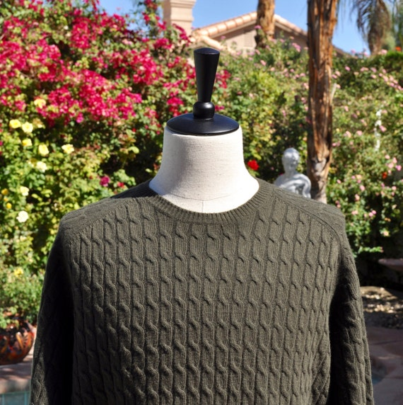 Men's Chocolate Brown Brooks Brothers Wool and Cashmere Sweater Sz XL.