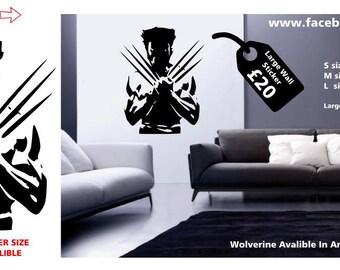 Wolverine X-MEN Wall Sticker marvel wall decal