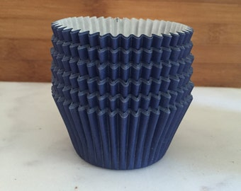Solid Navy Blue BakeBright Cupcake Liners, Taller Sized, Baking Cups (30)