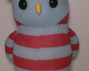 Cute Owl Plush Pink and Blue