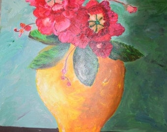 Vase of Blooming Flowers