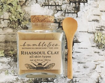Natural Clay Mask | Rhassoul  Clay | Gentle Face Mask | Mineral Face Mask | Clarifying Mask | Moisturizing Mask  | Unisex Clay Face Mask