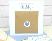 Dad Birthday Card - 10 Things I Love About Dad Greetings Card - Stepdad Birthday Card - Father Birthday Card - Personalised Dad Card