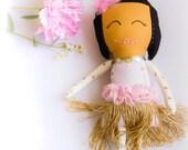 Fabric Doll // Rag Doll // Blond Rag Doll // Baby Doll // Girl Gift // Girl Doll // Girl Fabric Doll // Adeleine Doll