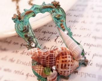 Siren Song sea shell sea treasure necklace