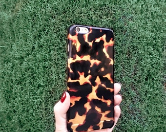 Fashion Gift Tortoise Shell Print iPhone 6S Case, iPhone 6 Faux Tortoiseshell Clear iPhone 6S Plus Gift for Her