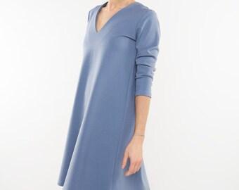 Formal dress | Pale blue dress | Plain dress | LeMuse formal dress