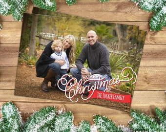 Christmas Photo Card - Photo Christmas Card - Printable Photo Card - Digital Christmas Card - Christmas Card with Photo - Banner, Full-Photo