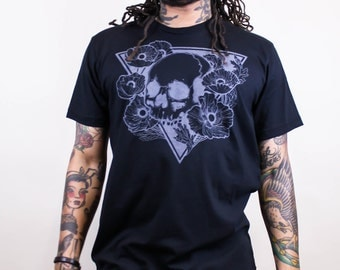 Hereafter - Skull and Poppies Tee - Men's