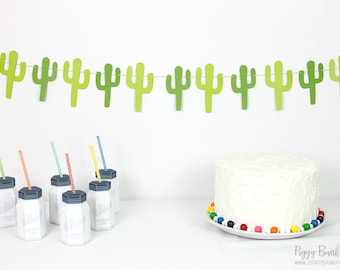 Cactus Garland : Handcrafted Cacti Bunting | Fiesta | Succulent Room Decoration | Cinco de Mayo Party Decoration | Photo Booth Decoration