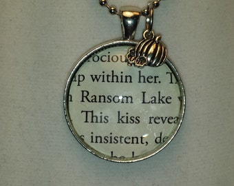 Ransom Lake Necklace - Marcia Lynn McClure - made using an Actual Book Page ~ The Visions of Ransom Lake