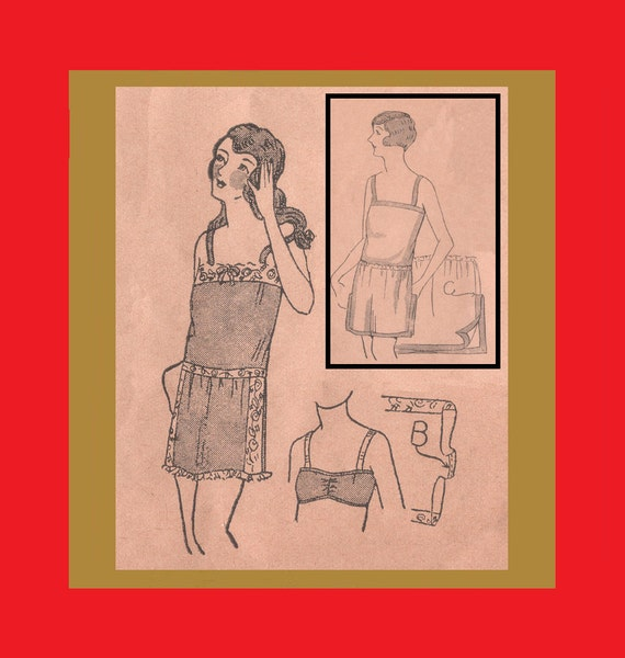 1920s Patterns – Vintage, Reproduction Sewing Patterns Vintage 1920s Lingerie Instructions - Womans Brassieres Step-Ins Chemises - Reproduction Tutorial Pattern - .pdf Download $2.25 AT vintagedancer.com
