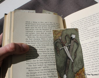 Bookmarks - Set of Three Original Art Handillustrated Literary Gift