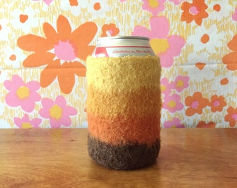 Felted Beer Cozy - Sunset Collection