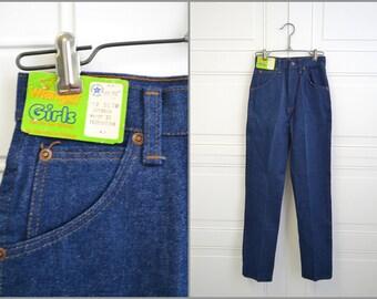 1980s NOS Girls' Wrangler Jeans, size 12 Slim