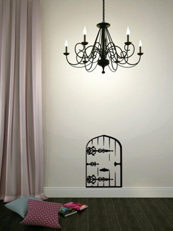 Fairy door vinyl wall decal vinyl lettering by for Fairy door for bedroom