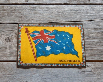 Large size tobacco flannel Flag of Australia