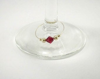 12 - Wine Charms | Swarovski ® Crystal Elements Wine Glass Charms | Gift Box | Unique Wine Gift - Wine Tasting - Glass Markers - Tag GSC12-1