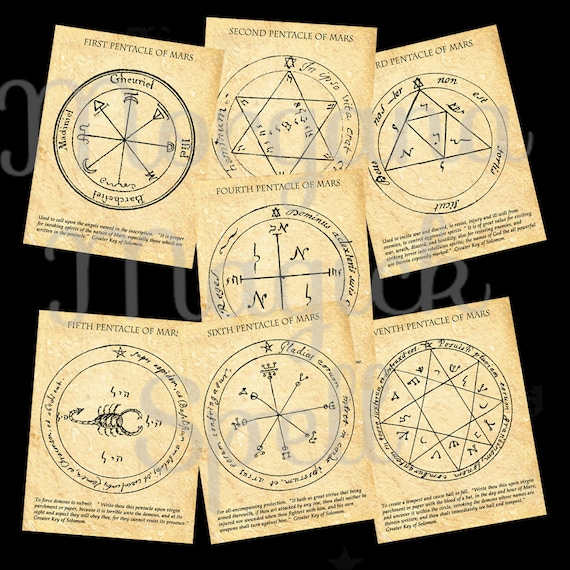 The MARS  PENTACLES of SOLOMON