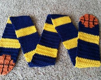 Basketball Scarf, Crochet Pattern