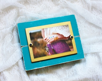 Wood Picture Frame | Wood | Turquoise Picture Frame